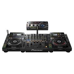 Pioneer DJ set up _ DJM 900 Nexus mixer, a pair of CDJ 2000s