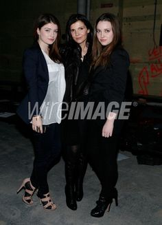 Alison Hewson with Daughters Memphis Eve and Jordan Hewson
