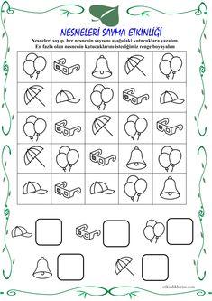 Pre K Worksheets, Number Worksheets, Kindergarten Math Worksheets, Kindergarten Age, Numbers Preschool, Learning Numbers, Preschool Math, Counting Activities, Montessori Activities