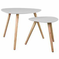 Table basse Wald grise (lot de 2)