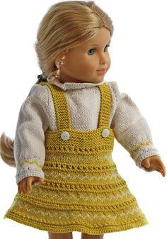 Puppenkleid stricken anleitung