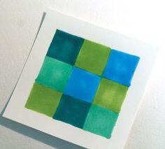 color bleed grid technique for Copic markers