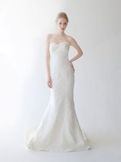 Strapless Trumpet Skirt Wedding Dress Narissa by Kelly Faetanini