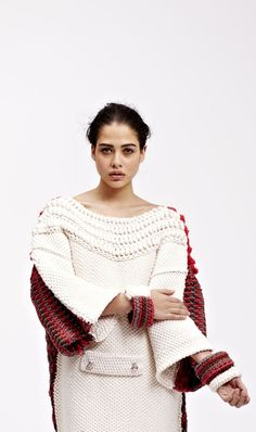 M A I T I E U - Fashion Design Technology, Surface Textiles, Chelsea School of the Arts Knitwear Fashion, Knit Fashion, Knitting Wool, Hand Knitting, Crochet Coat, How To Purl Knit, Knitting Accessories, Crochet Designs, Knit Patterns