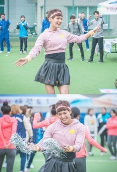 """Weightlifting Fairy Kim Bok-joo"" Ji Il-joo Dresses as a Cheerleader @ HanCinema :: The Korean Movie and Drama Database"