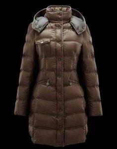 Sale Women Moncler Romarin Brown Coats