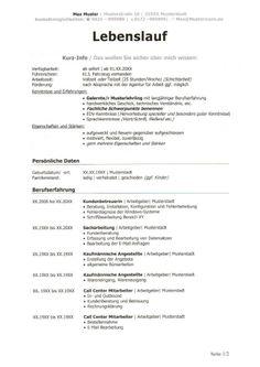 aaArbeit | LEBENSLAUF mit Info-Block  Ein Lebenslauf mit einer besonderen Kurz-Info zu Beginn.   Lebenslauf mit Kurz-Info | Seite 1/2