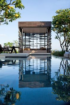 Alila Villas Uluwatu Bali - One Bedroom Pool Villa - Exterior Of the Cabana Outdoor Spaces, Outdoor Living, Outdoor Beds, Outdoor Pool, Backyard Patio, Patio Stairs, Flagstone Patio, Outdoor Retreat, Outdoor Lounge
