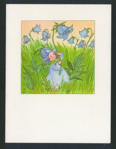 Scarce Spring Blue Bell Flower Fairy Poem Ida Bohatta Blank Greeting Card | eBay