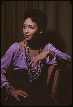 """I was a fly chick when I was young."" ~ The artist Ladybird Cleveland (now Strickland) to a reporter in 2012 in a story about an exhibition of her paintings. Ms. Strickland, the mother of legendary fashion model Pat Cleveland, was photographed here by Carl Van Vechten on September 21, 1954. Photo: Beinecke Rare Book and Manuscript Library"