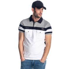POLO MANGA CORTA PIQUÉ ALGODÓN Polo Shirt Style, Polo Rugby Shirt, Mens Polo T Shirts, Mens Tees, Tee Shirts, Camisa Polo, Apparel Design, Printed Shirts, Men Sweater