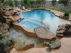 """View this Great Rustic Swimming Pool with Water feature & Natural rock pool accent by Signature Pools of Texas. Discover & browse thousands of other home design ideas on Zillow Digs. Pool Spa, My Pool, Ideas De Piscina, Natural Swimming Pools, Beautiful Pools, Dream Pools, Swimming Pool Designs, In Ground Pools, Cool Pools"