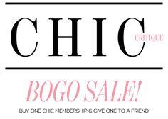 Chic Critique Forum | Membership BOGO Sale! | RED CARPET WEEK