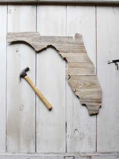 FL Timber // Wooden Florida made from reclaimed lumber in the USA