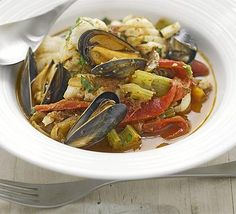 Eating healthy isn't all about salad, this fish stew counts as 3 of your 5-a-day and it's low-fat