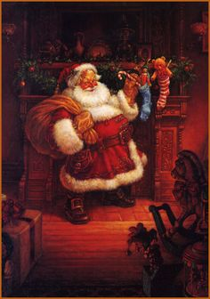 Image detail for -Scott Gustafson. Santa Claus. The Night before Christmas.
