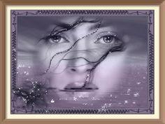Лицо девушки на фоне океана. - анимация на телефон №992677