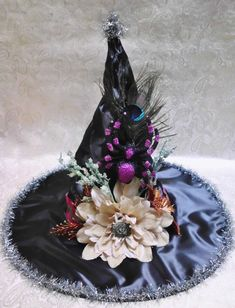 Hey, I found this really awesome Etsy listing at https://www.etsy.com/listing/203867807/fabulous-halloween-witch-hat-with