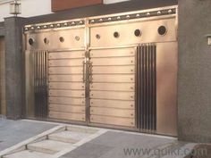 stainless steel driveway gate in Patparganj, Delhi Everything Else . New Gate Design, Front Gate Design, House Gate Design, Door Gate Design, Steel Stairs Design, Steel Gate Design, Gate Designs Modern, Modern Fence Design, Grill Door Design