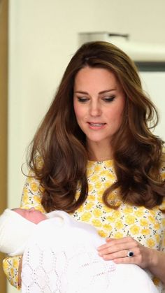 Catherine, Duchess of Cambridge and her newly born Princess.