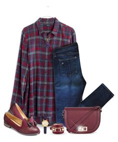 """""""Plaid"""" by truthjc ❤ liked on Polyvore featuring Madewell, rag & bone, Warehouse, Balenciaga, Kate Spade and Pasquale Bruni"""