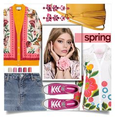 """""""It's all about Spring"""" by wuteringheights ❤ liked on Polyvore featuring Gucci, Desigual, Topshop, Converse and Etro"""