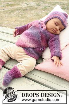 Sweet Evelina / DROPS Baby 20-1 - Ingyenes kötésminták a DROPS Designtól Baby Knitting Patterns, Knitting For Kids, Baby Patterns, Knitting Projects, Free Knitting, Crochet Patterns, Baby Boy Sweater, Baby Vest, Baby Cardigan