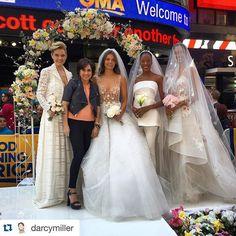#Repost @darcymiller @martha_weddings Monday morning @goodmorningamerica talking wedding dress trends #wideworldofweddings