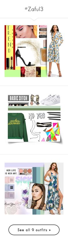 """#Zaful3"" by juromi ❤ liked on Polyvore featuring Nails Inc., Camp, Jayson Home, WALL, Tattify, Who What Wear, Krystal and Populaire"