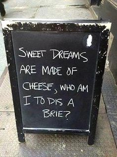 Sweet dreams are made of #cheese!