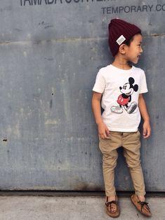 マディ|しまむらのニットキャップ・ビーニーを使ったコーディネート - WEAR Kids Boys, Baby Kids, Baby Boy, Little Boy Fashion, Kids Fashion, Kids Outfits, Cute Outfits, Roman Fashion, Kid Closet