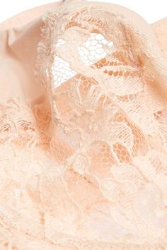 La Perla - Lace Story Leavers Lace, Tulle And Satin Underwired Bra - Blush - 36B