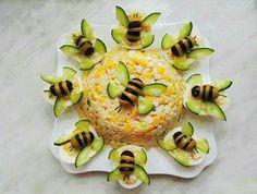 Food decoration - - food art - - Kochen - Home Cute Food, Good Food, Yummy Food, Food Carving, Food Garnishes, Garnishing, Food Platters, Meat Trays, Food Decoration