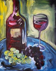 Art & Wine in The Vineyard :: 'Wine and Canvas' painting event at Gervasi Vineyard, June 23rd 2013 1:30pm-5pm