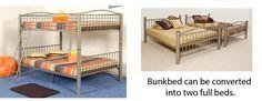 Full Over Full Bunkbed (Mocha-Color) 898