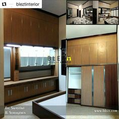 #Repost @bleztinterior (@get_repost)  ・・・  .  Whatsapp B.L.E.Z.T :   081 660 6879 ☺ .  .  www.blezt.com.  .  #interiorjogja #kitchensetjogja   #interior #jasainterior  #design #hpl #rumah #jogja #perumahan #sorogenen #kamar #lemari #furniture