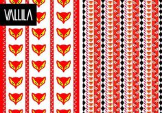 Textile patterns from Fazer sweets by Vallila 2013