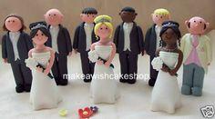 2 x Brides  Same Sex Wedding Cake Topper by BakeandDecorate