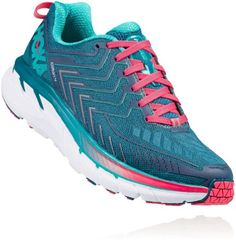 7342984a4a373 HOKA ONE ONE Women s Clifton 4 Road-Running Shoes Blue Coral Ceramic 10.5  Wide