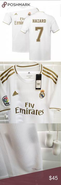 I just added this listing on Poshmark: Adidas Real Madrid HAZARD Home Jersey Belgium James Rodriguez, Premier League, Adidas Real Madrid, Adidas Soccer Jerseys, Fifa, Fashion Tips, Fashion Design, Fashion Trends, Adidas Men