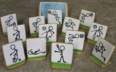 Soccer stick figures | Cookie Connection