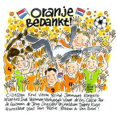 Thank you to the WK Dutch Football Team