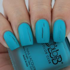 Color Club Party Teal Dawn swatched by Olivia Jade Nails Jade Nails, Olivia Jade, Color Club, Club Parties, Swatch, Nail Polish, Pop, Dawn, How To Make