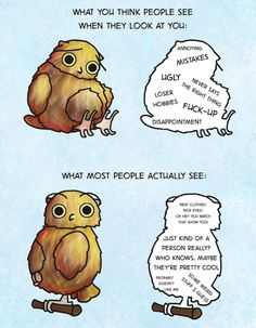 """""""Boggle The Owl"""" reminds you that people most likely don't see you as a bad person."""