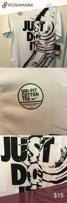 Nike Dry Fit Just Do It Black/White Boys Tee Nike Dry Fit Just Do It Black/White Boys Tee Large New With Tags Nike Shirts & Tops Tees - Short Sleeve