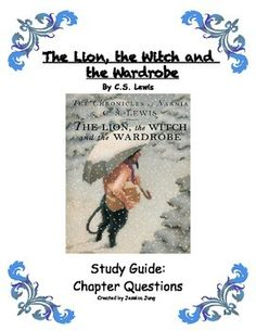 This product is a chapter-by-chapter study guide for The Lion, the Witch and the Wardrobe, written by C.S. Lewis.  It contains various types of reading comprehension questions, vocabulary, one quiz (for ch.1-4), a worksheet on metaphors and similes, and two food recipes to make Turkish Delight and Fox's Pudding.