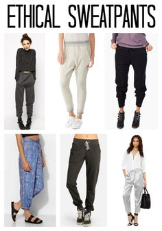 Ethical sweatpants to keep you comfy and cozy and feelin so good this season. #ethicalfashion