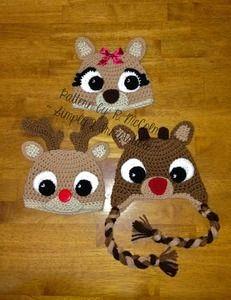 deer+earflap+crochet+hat+pattern | Crochet Hat Patterns / Simply 2 Irresistible: Crochet Hat Patterns ...