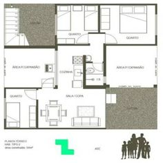 Proposta de habitação popular com containers