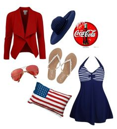 """Untitled #1479"" by shemomjojo ❤ liked on Polyvore featuring Seletti, M&Co, Seafolly and Ray-Ban"